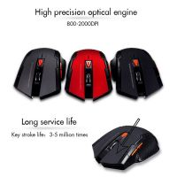 GY-industries High Precision Wireless Gaming Mouse Programmable Buttons mouse for PC, Laptop, Tablet, Computer, and Mac 2.4g wireless mouse