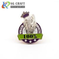 Professionally custom high quality metal badge with logo your own design