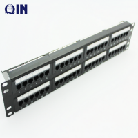 High Quality 19 Inch 2U 48 Port Cat6 Patch Panel With Dual IDC