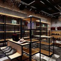 Custom design shoe store display metal furniture wall mounted shelves