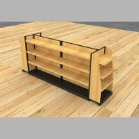 Modern wooden store display stand shelf retail store gondola display shelf