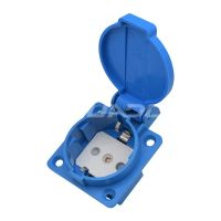 EU UK Waterproof Socket With Safety Shutter