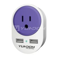 USA To Europe Travel Adapter With 2 USB YUADON US To EU Plug Adaptor