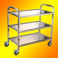 3 tier stainless steel sreving trolley with wheel hotel carts