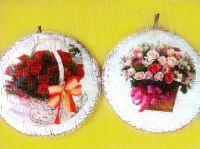 Round bambo craft ornament