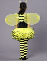 Bumble Bee Costume for Girls, Kids Honeybee Fancy Dress Up Outfit