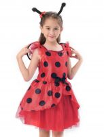 Miraculous Ladybug Costume for Girls, Kids Halloween Fancy Dress Up Outfit