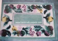 Hand tufted acrylic carpet rug, anti burning acrylic yarn