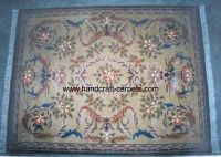 Hand tufted wool carpet rug