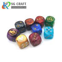 wholesale party game plastic dice set