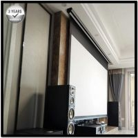 16:9, 4K Ultra HD and Active 3D Ready, Tensioned Electric Motorized Projection Projector Screen