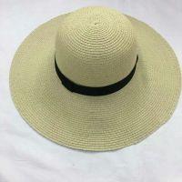wholeseller fashion lady plain straw sun hats, trend women floppy beach hat, elegant paper wide brim hat, recycle customized fashion accessories