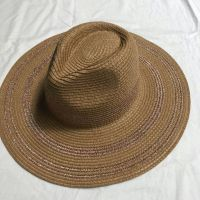 wholeseller fashion panama unisex striped straw sun hat, trend adult straw beach hat, elegant paper hat, recycle customized fashion accessories