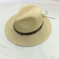 wholeseller fashion panama unisex straw sun hats with beads, trend adult straw beach hat, elegant paper hat, recycle customized fashion accessories