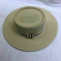 wholeseller fashion classic straw sun hats, trend women boater paper hat, elegant paper hat, recycle customized fashion accessories