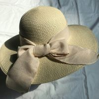 wholeseller fashion lady straw brown sun hats with silk ribbons, trend cheap women floppy beach hat, elegant paper hat, recycle customized fashion accessories