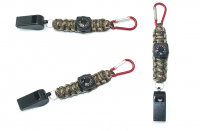 Outdoor survival 250 Paracord keychain climbing ring rope compass key chain