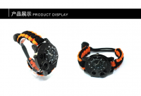 Wholesale Factory Paracord Accessories Paracord Survival Watch, Factory Sale Cheap Camping Gear Watch Men