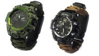 Whistle watch paracord thermometer whistle outdoor paracord watch
