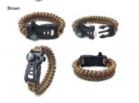 Mini Outdoor Traveling 5 IN 1 Buckle Compass Bracelet, Survival Hand Bangle Colorful Hiking Bracelet