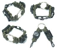 Factory Sale Hiking Equipment Metal EDC Opener Bracelet, Hot Multifunctional Camping Colorful Bracel
