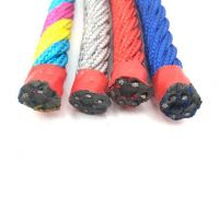 6 Strands Polyester Covered Playground Used Combination Wire Rope