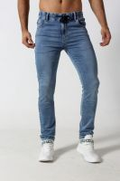 Men's straight fit light fade denim jogger