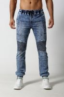 Men's slim biker denim jeans