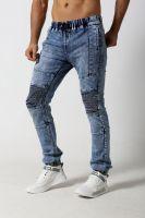 Men's slim biker denim jeans