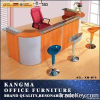 fashion design glass top counter reception desk