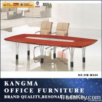 modern design glass conference table with metal leg