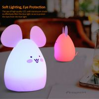3D Lamp Night Light Touch Table Desk Lamps, Nice 7 Color Changing Lights With ABS Base & USB Charger Port