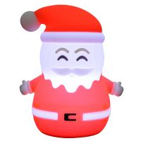 Night Light Silicone USB Charge Point Santa Clause Shape Night Light Christmas Present for girl, boy, children
