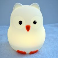 Bird Shape Silicone Night Lamp Removable Soft Light For Babies