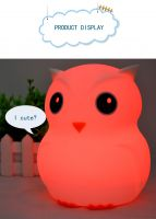 Silicone Night Lights Baby Sleep Warm Light Lamp Soft Material Can Put In Bed