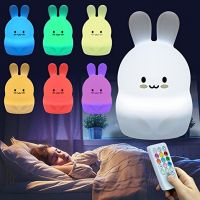 Mini Sizes Bear Silicone Night Lamp Touch Color