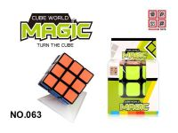 wholesale Intelligent speed puzzle sticker  3*3*3 plastic cube brain development of children educational toys