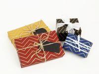 Gravure Printing Zig Zag Gift Wrapping Paper DESIGNWRAP