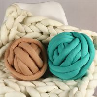 Cotton Tube Chunky cotton Fabric with Polyester Filling for Hand Knit Blankets