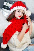 Christmas Gift, Christmas Hat, Scarf, Stocking, Shoes, Merino Wool Hand Knitting Gift