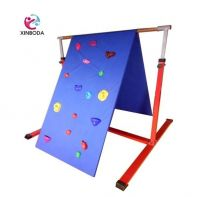 Hot sale rock wall &slide gymnastic equipment for kids