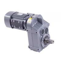 Helical geared motor reductor