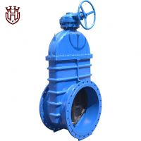 DIN3352 F4 Big Size Gearbox Resilient Seated Gate Valve