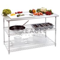 3 Tiers Stainless Steel Economy Worktable