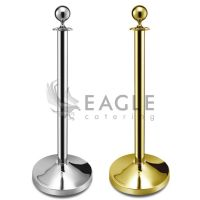 Silver or Golden Ball Shape Hotel Catering Barrier Post Stanchion