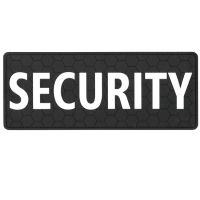 SECURITY large 10 x 4 inches velcro rubber PVC patch