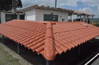 Light Weight ASA PVC Synthetic Resin Roma Roof Tile