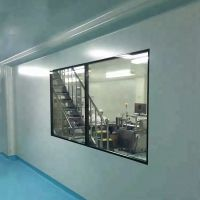 High Quality Building Material 5mm Thickness Tempered Glass Aluminum Frame Cleanroom