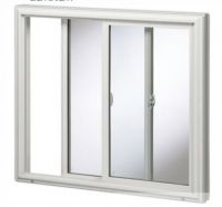 Construction Material Cleanroom 5mm Tempered Glass Aluminum Alloy Frame Sliding Window