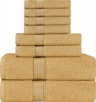 100% Ring Spun Cotton Luxury 600 GSM Towel Set (2 Bath Towels, 2 Hand Towels & 4 Washcloths)